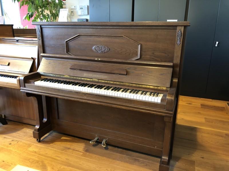 ZEITTER & WINKELMANN 134 Klavier Eiche satiniert, Bj. 1928 Vintage