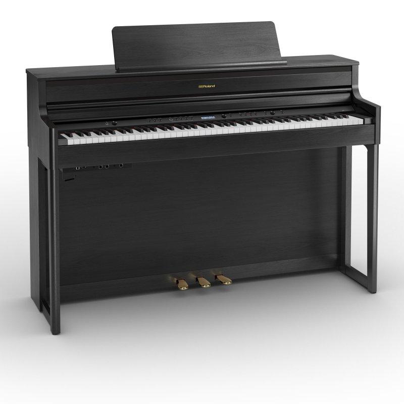 ROLAND HP704 CH Digitalpiano Charcoal Schwarz