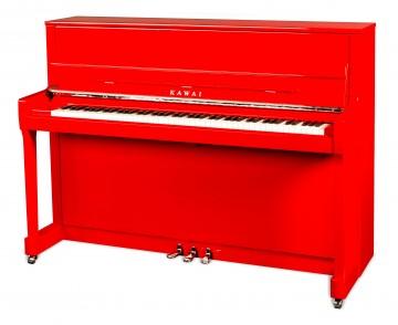 KAWAI K-200 Klavier Ferrarirot Chrom Beschläge Sondermodell