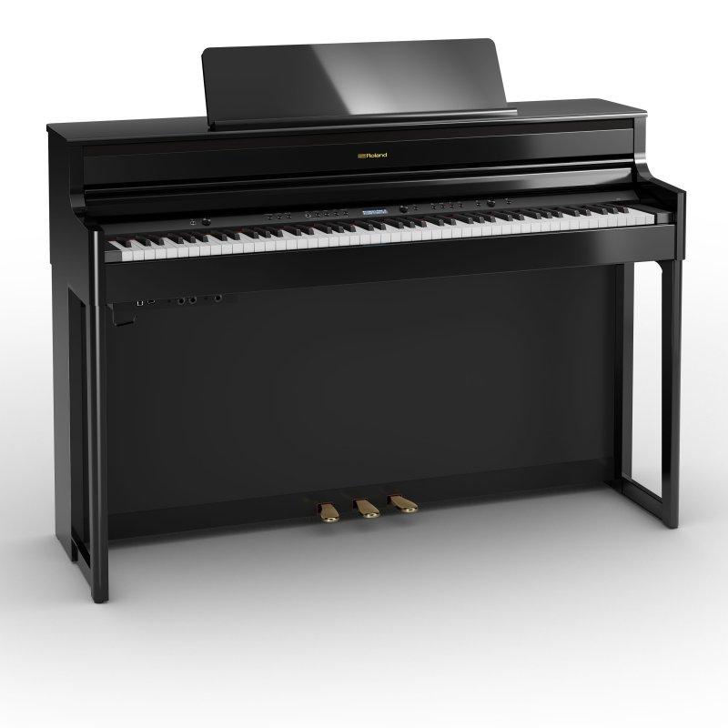 ROLAND HP704 PE Digitalpiano Schwarz poliert